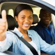 Student driver giving thumb up — Stock Photo #57404479