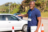 Young african driving instructor — Stock Photo