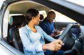 Dziewczyna lekcje jazdy — Zdjęcie stockowe