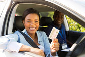 Student driver passes driving test — Stock Photo