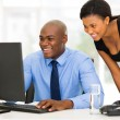 African secretary with her boss — Stock Photo #57427171