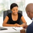 African businessman signing contract — Stock Photo #57428723