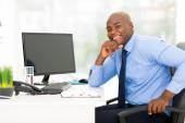 Young african-american businessman — Stock Photo