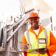 African electrical worker — Stock Photo #58172261