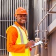 African electrical worker — Stock Photo #58172303