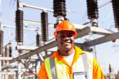 African electrical engineer — Stock Photo