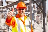 Technician giving thumb up — Stock Photo