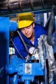 Industrial machine operator — Stock Photo