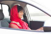 Indian woman driving — Stock Photo