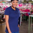Female clothing factory supervisor — Stock Photo #59685487