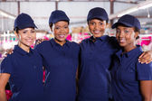 Textile factory co-workers — Stockfoto