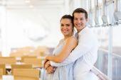 Happy embracing couple — Stock Photo