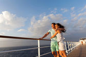Couple standing on cruise deck — Stock Photo