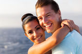 Young couple on cruise — Stock Photo