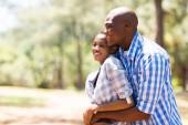 Young african couple looking away — Stock Photo