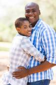 Afro american couple outdoors — Stock Photo