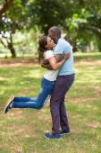 Couple having fun in the park — Stock Photo