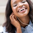 Student listening to music — Stock Photo #66102791
