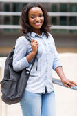 College student with backpack — Stock Photo