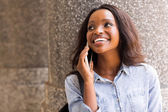 Girl talking on mobile phone — Stock Photo