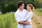 Lovely young couple hugging — Stock Photo