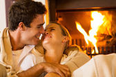 Young couple cuddling — Stock Photo