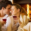 Couple enjoying spend time together — Stock Photo #70610385