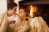 Couple spend romantic evening — Stock Photo