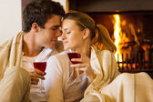 Couple enjoying spend time together — Stock Photo