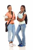 African college students standing together — Stock Photo