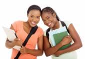 Female african university students — Stock Photo