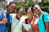 African university students looking at the camera — Stock Photo