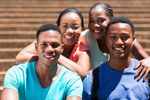 Group of african american college friends — Stock Photo