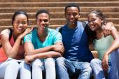African american university students — Stock Photo