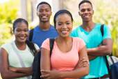 African college students — Stock Photo