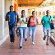 African college students running — Stock Photo #71013135