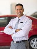 Male car dealer principal — Stock Photo