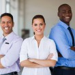 Vehicle sales team with arms crossed — Stock Photo #71220011