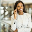 Young businesswoman talking on mobile phone — Stock Photo #71237253