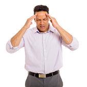 Mature man having headache — Stock Photo