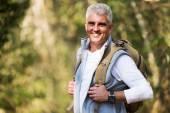 Senior man on hike — Stock Photo