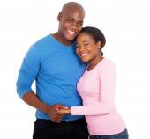Embracing african couple — Stock Photo