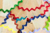 Color pencil shavings — Stock Photo