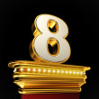 Number Eight on golden platform — Stock Photo #59067933