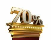 Seventy percent figure over white background — Stock Photo