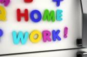 Home work fridge magnets — Stock Photo