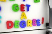 Get a degree magnets — ストック写真