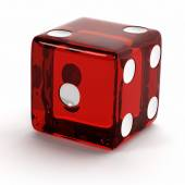 Red Die — Stock Photo