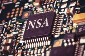 NSA computer chip — Stock Photo