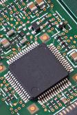 Circuit board macro — Stock Photo